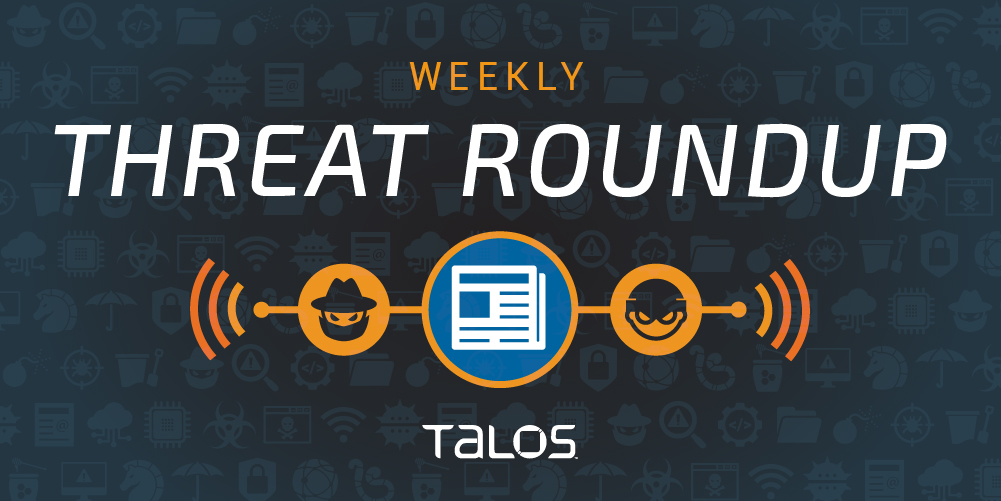 For October 23 to October 30 threat Roundup