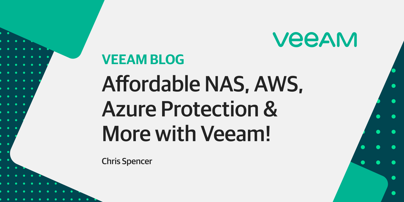 Protecting NAS, AWS, Azure & more is less expensive than you may think now?