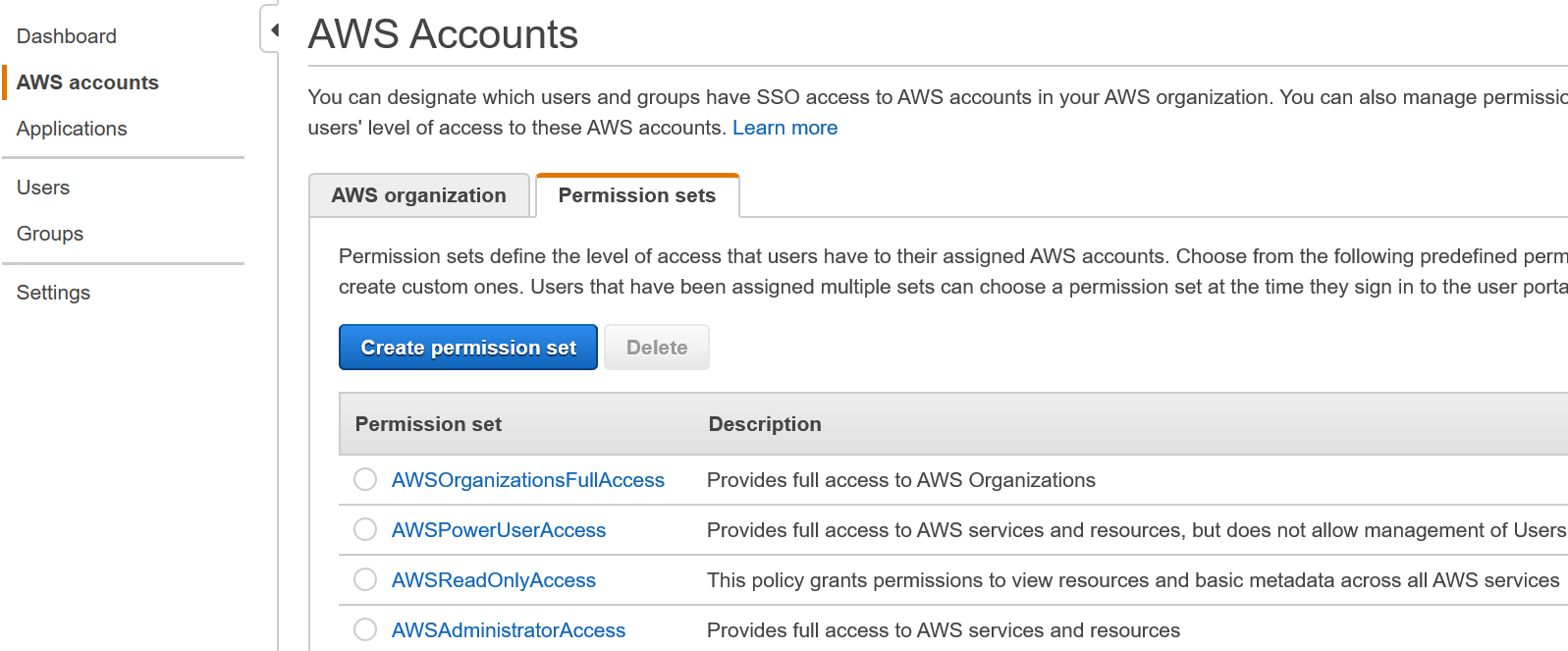Ways to get read-only presence in to the AWS Control Tower console